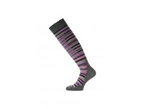 Lasting SWP merino lyžařské podkolenky růžové  ponožky