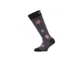 Lasting dětské merino lyžařské ponožky SJA modré  ponožky