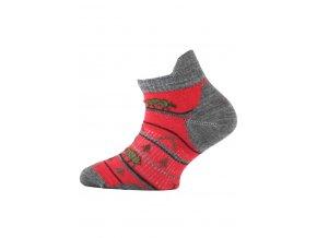 Lasting dětské merino ponožky TJM červené  ponožky
