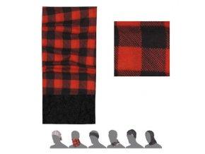 SENSOR TUBE FLEECE Square multifunkční šátek černá/červená