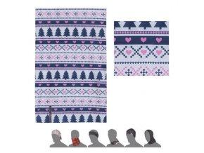SENSOR multifunkční šátek Stromky - multicolor