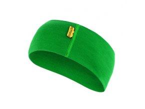 SENSOR čelenka z merino vlny zelená