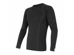SENSOR MERINO ACTIVE pánské triko dl.rukáv černá