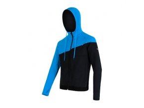 SENSOR TECNOSTRETCH pánská mikina s kapucí černá/modrá