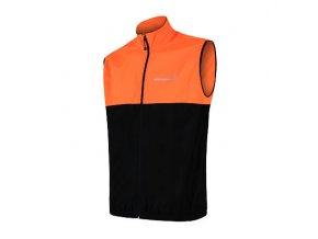 SENSOR NEON pánská vesta černá/reflex oranžová