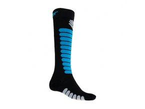 SENSOR PONOŽKY ZERO MERINO černá/modrá  ponožky