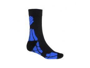 SENSOR PONOŽKY HIKING MERINO WOOL černá/modrá  ponožky