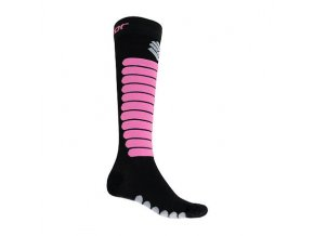 SENSOR PONOŽKY ZERO MERINO černá/fialová  ponožky