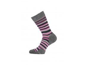 Lasting merino ponožky WWL růžové  ponožky