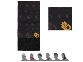 SENSOR TUBE FLEECE Ruka šátek multifunkční černá