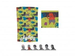SENSOR TUBE MONSTER dětský šátek multifunkční zelená
