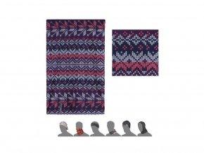 SENSOR multifunkční šátek thermo vločky multicolor