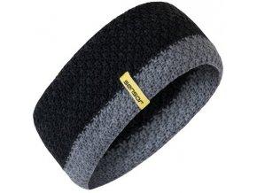 SENSOR pletená čelenka černá