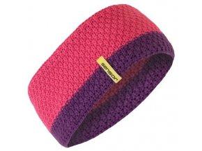 SENSOR pletená čelenka růžová