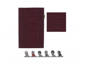 SENSOR multifunkční šátek tm. vínový