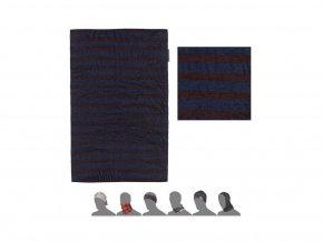 SENSOR multifunkční šátek modrá/vínová