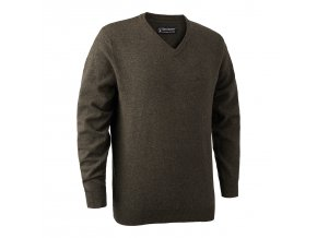 Deerhunter svetr Brighton Knit w.V-Neck 383 DH