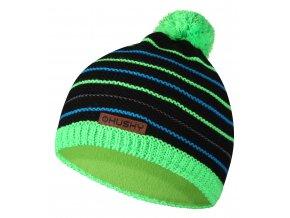 Husky Dětská čepice   Cap 34 černá/neon zelená