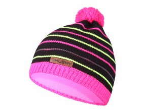 Husky Dětská čepice   Cap 34 černá/neon růžová