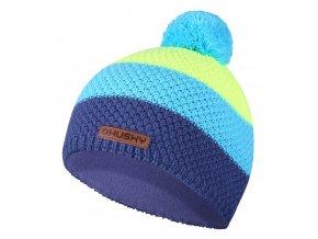 Husky Dětská čepice   Cap 35 modrá/neon žlutá