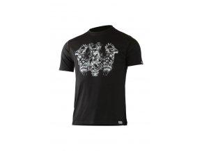 Lasting pánské merino triko s tiskem HERO černé
