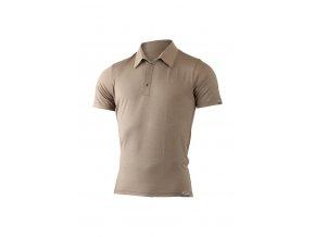 Lasting pánská merino polo košile ELIOT hnědá