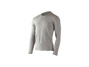 Lasting pánské merino triko LOGAN šedá