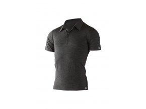 Lasting pánská merino polo košile ELIOT šedá