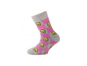 Lasting dětské merino ponožky TJE růžové  ponožky