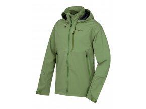 Husky Pánská softshellová bunda   Sauri M tm.zelená