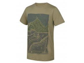 Husky Pánské triko   Tash M sv. olivová
