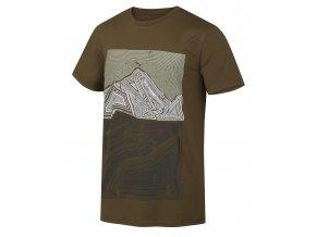 Husky Pánské triko   Tash M tm. olivová