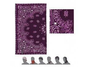 SENSOR TUBE Ornament šátek multifunkční fialová