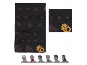 SENSOR TUBE Ruka multifunkční šátek černá