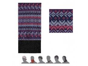 SENSOR TUBE FLEECE Vločky šátek multifunkční multicolor