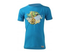 Lasting dětské merino triko ANIM modré