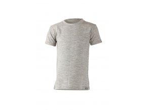 Lasting dětské merino triko TONY šedý melír