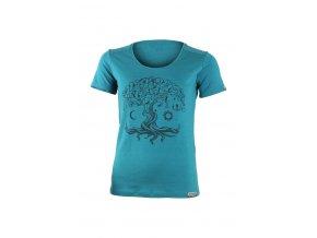 Lasting dámské merino triko s tiskem KASTRO modré