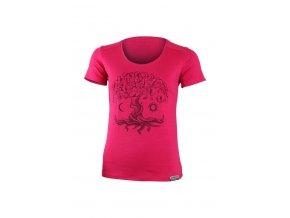 Lasting dámské merino triko s tiskem KASTRO 4747 růžové