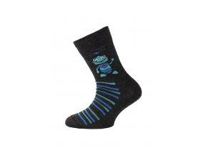 Lasting dětské merino ponožky TJB černá  ponožky