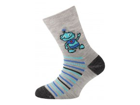 Lasting dětské merino ponožky TJB šedé  ponožky