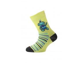 Lasting dětské merino ponožky TJB žluté  ponožky