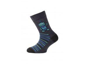 Lasting dětské merino ponožky TJB modré  ponožky