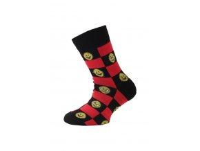 Lasting dětské merino ponožky TJE černé  ponožky