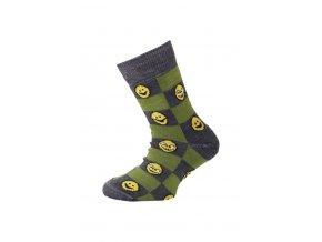 Lasting dětské merino ponožky TJE zelené  ponožky