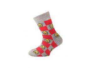 Lasting dětské merino ponožky TJE červené  ponožky