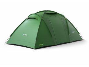 Husky Stan Family Brime Dural 4-6 zelená  stan + cyklosvětlo čelovka power LED