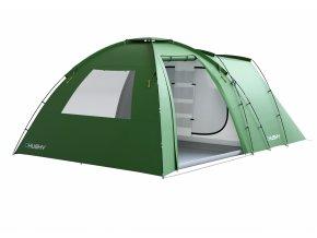 Husky Stan Family Boston 5 Dural zelená  stan + cyklosvětlo čelovka power LED