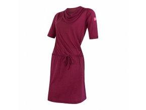 SENSOR MERINO ACTIVE dámské šaty lilla