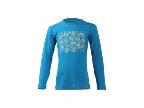 Lasting Lasting dětské merino triko ASA modré